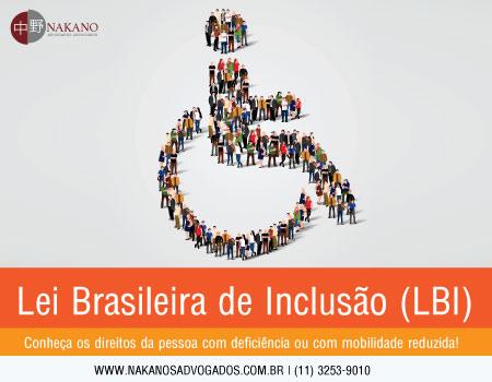 Cartilha Lei Brasileira de Inclusão (LBI)