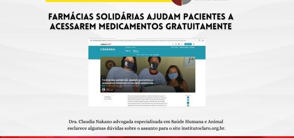 Farmácias solidárias ajudam pacientes