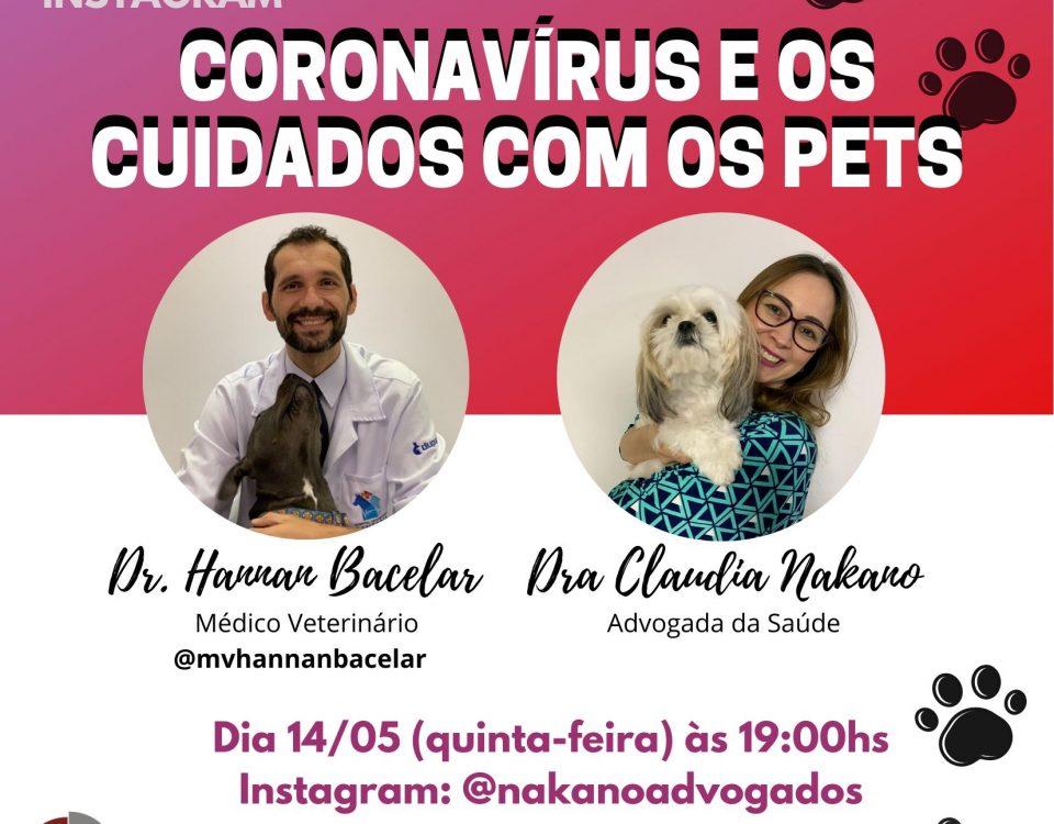 Coronavírus e os cuidados com os Pets
